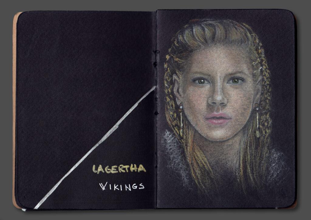 Lagertha Portrait (Book Scan 2)
