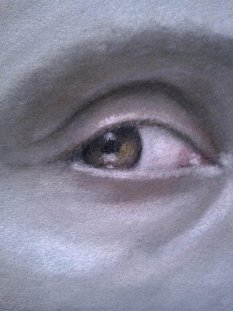 Hannibal portrait (right eye close-up)